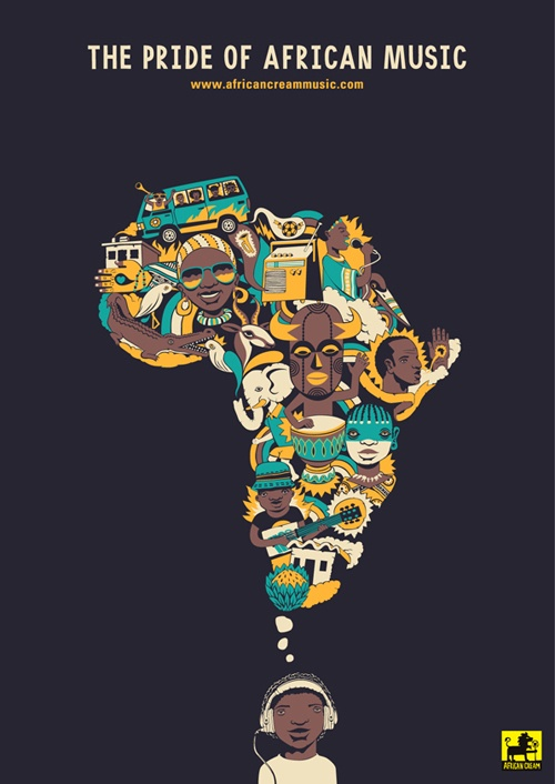 African culture: Known &/or influential worldwide for its catchy & colorful rhythms.