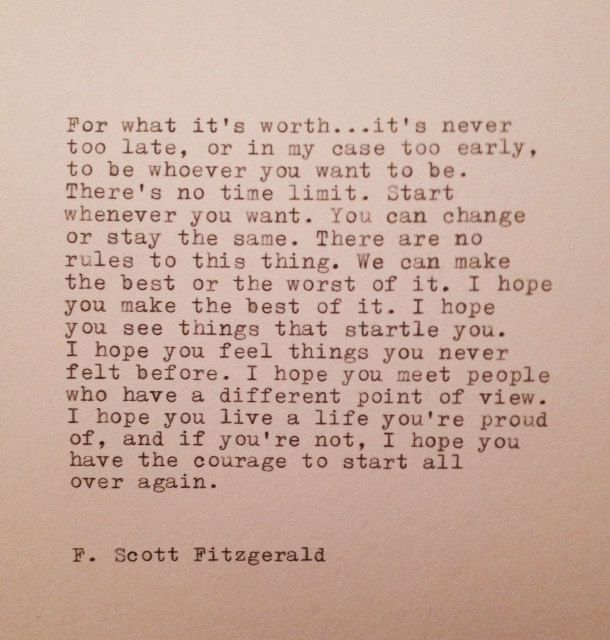 F. Scott Fitzgerald Hand Typed Quote Made On di WhiteCellarDoor