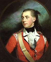 James Northcote RA. -  Lt George Dyer of the Marines, 1780.    Dyer was commissioned into the Marines at the age of 18 in 1776 and finally retired as Second Colonel Commandant in 1816. A highlight of his career was the Battle of the Glorious First of June in 1794, in which he fought as Captain of Marines on board HMS Orion. However he began to suffer from severe sea sickness & after 1800 he was allowed to spend the remainder of his career ashore, much of it in recruiting.  Royal Marines…