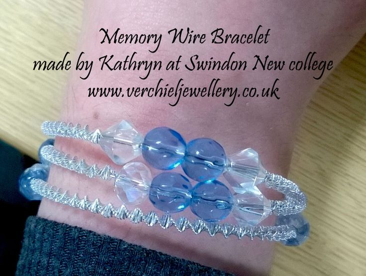 Memory Wire Bracelet made by Kathryn at Swindon New College.  www.verchieljewellery.co.uk