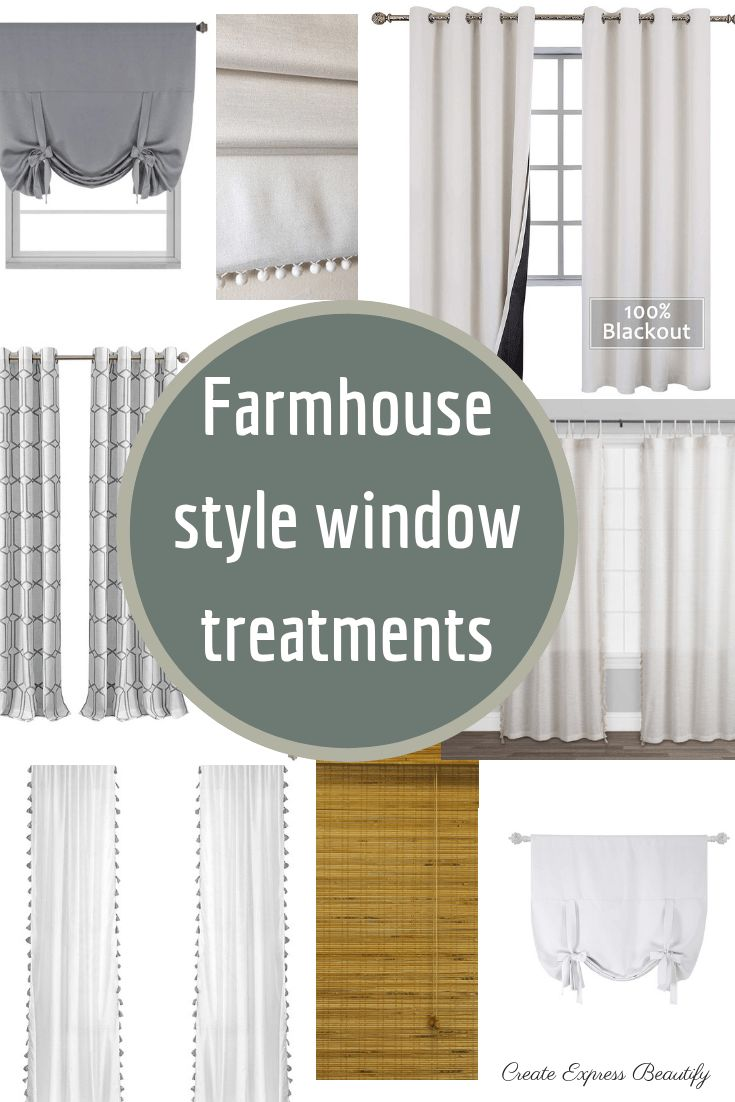 Farmhouse Window Treatments Kitchen Decorating Ideas