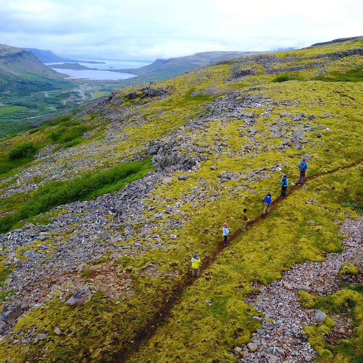 "As we did all throughout our Iceland trip, we tackled the Glymur hike at an ""off"" hour when no other visitors were around. Not an easy hike and one full of perils (caves, muddy paths, scree fields, cliffs) but the kids did great and Travis didn't trash his shiny new ACL! #5milesatmidnight .....#travelwithkids #familyoffduty #familytravel #passportkids #myfamilypassport #travelingwithkids #kidswhotravel #adventurefamily #nmoutside #lpkids #familyadventures #traveldeeper #worldschooling…"