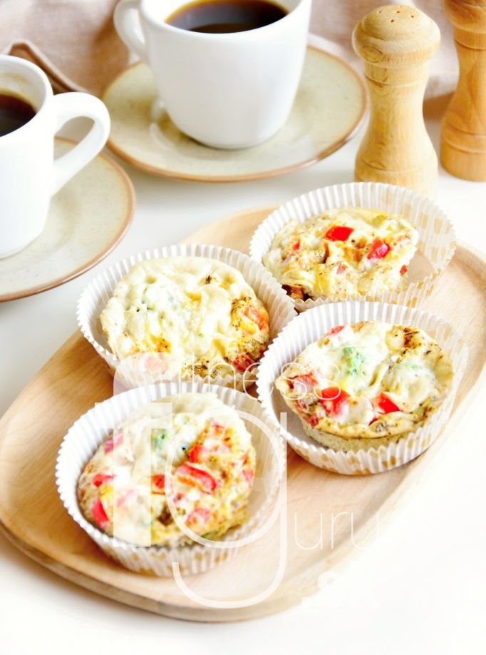 Vajíčkové quinoa muffiny so zeleninou