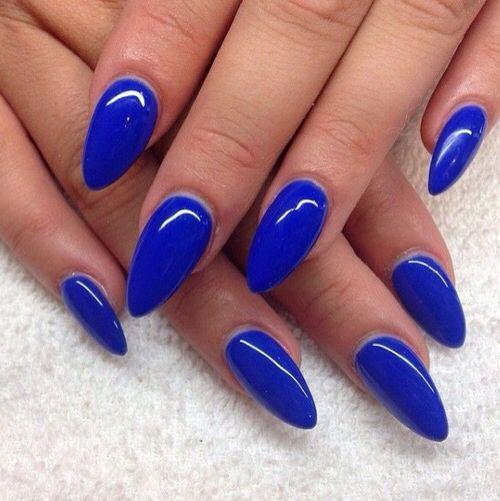 Blue nails,dlhé nechty top #vjednoduchostijekrása