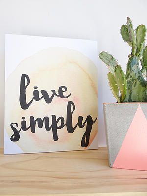 Live Simply shelfie created by Simply Type