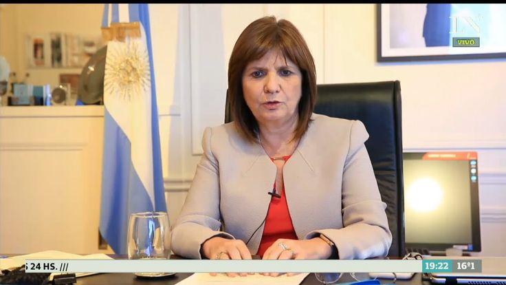 Patricia Bullrich Espero que los mismos que pidieron mi renuncia reconozcan el trabajo que estamos haciendo - LA NACION (Argentina)