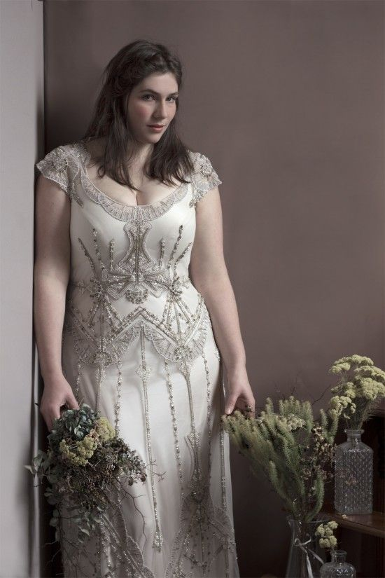 Vintage Inspired Beading Wedding Dress For Plus Size Bide Designed Your Own Dress Any Size