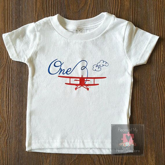 Airplane Birthday Shirt Age Options Available by PiecesofMyHeartLH