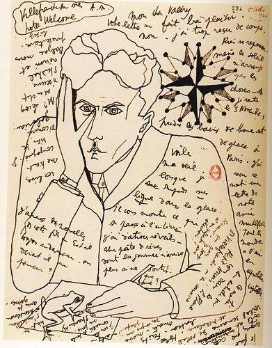 Jean Cocteau - Self-Portrait: Selfportrait, French Film, Paul Valéri, Self Portraits, Art Drawings, A Letters, Doce Paul, Jeans Cocteau, October 1924