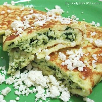 SB phase 1 spinach ricotta crepes - I used 1/2 c chopped fresh spinach, added 1T mozzarella and some green onion and cut the vanilla to 1/4 t. Delicious!