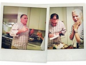 """So, one Sunday night I was sitting around at home when I got an email from my friend, the magnificent chef, José Andrés. He was in London and in the mood to cook. After I scraped myself off of the floor and screamed """"YES"""", José came over and we were witness to (and assistants to) one of the best meals ever. So freaking awesome.  on goop.com. http://goop.com/dinner-with-jose-andres/"""
