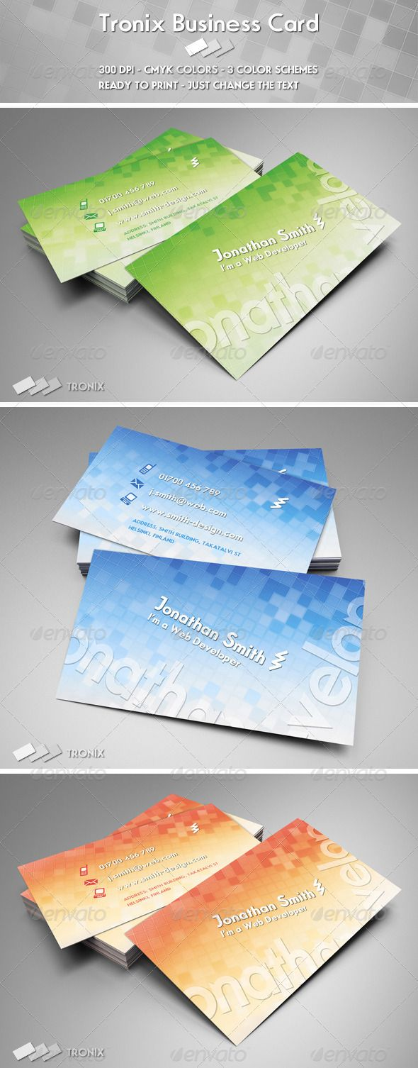 Tronix Business Card GraphicRiver Tronix Business Card