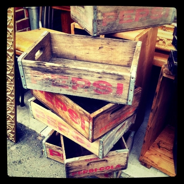Antique Pepsi Crates For Rustic Storage Vintage Decor