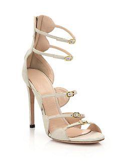 GIAMBATTISTA VALLI - Gladiator buckle strap flat sandals