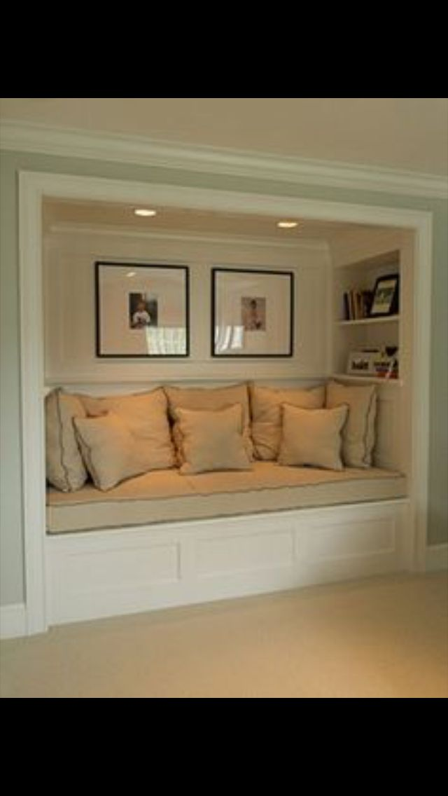 Turn closet into a window seat