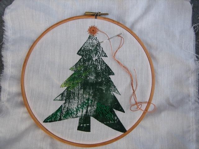 ateliervandommelen: Voort borduren op mooie herinneringen (kerst) tafelkleed,