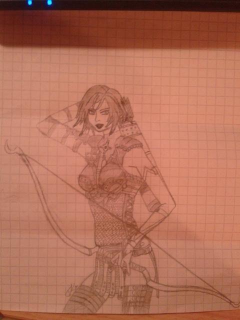 Dragon Age: Prameny Lelianna, náčrt, obyč. tužkou (A5)