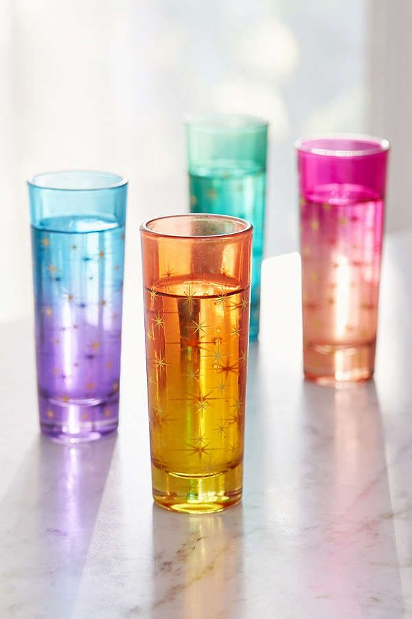 Slide View: 1: Ombre Star Shot Glass – Set of 4