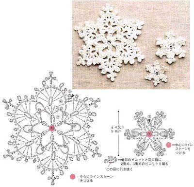 lavoretti creativi dall'uncinetto alla pittura: lavoretti di natale - fiocco di neve a uncinetto