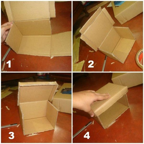Делаем шкатулку из картона