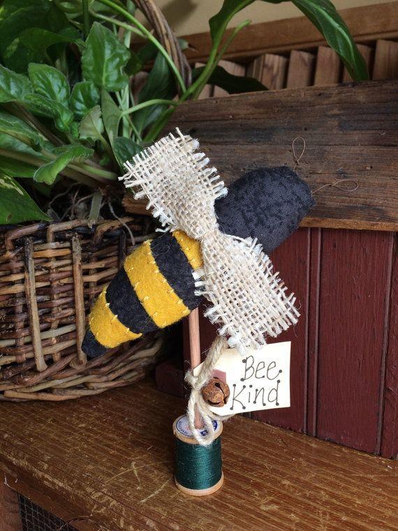 honey bee - cupboard sitter - primitive summer