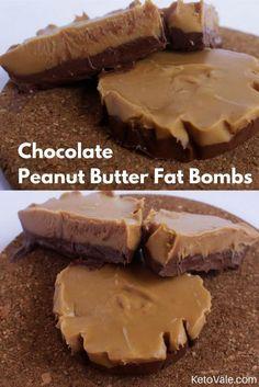 Chocolate Peanut Butter Fat Bombs | Recipe | Keto | Peanut ...