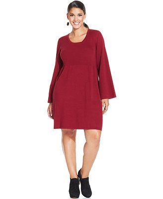 Style&co. Plus Size Babydoll Sweater Dress