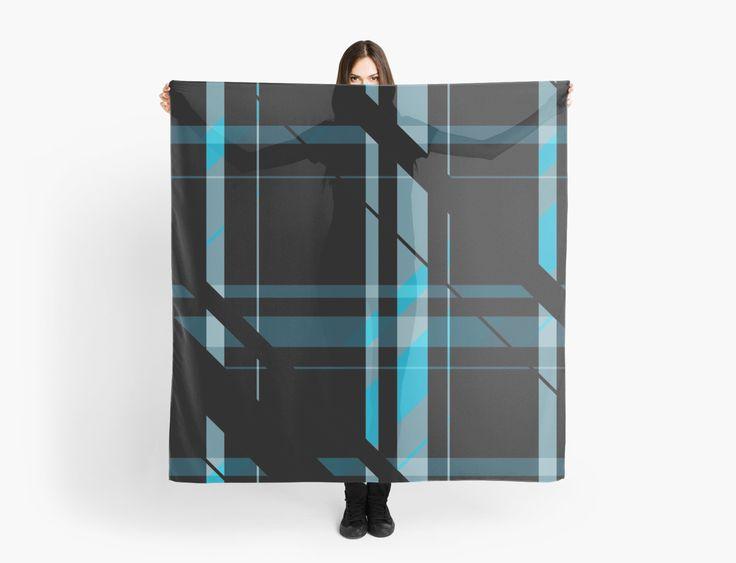 Black & Blue Scarf by scardesign11 #scarf #plaidscarf #gifts #plaidgifts #womensgifts #scarves #buygifts #giftsforher #buyscarves #fashion #womensfashion #redbubble