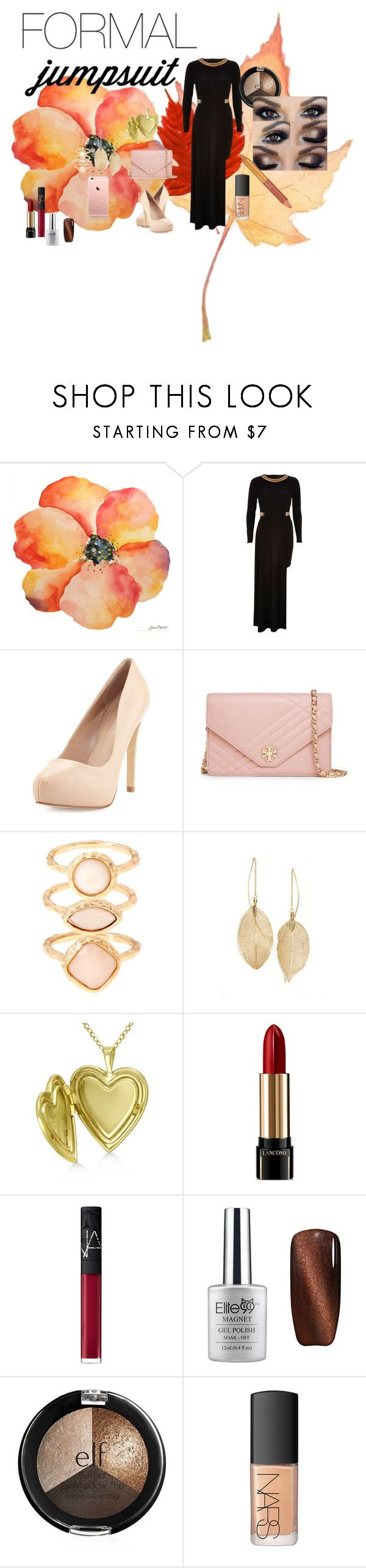 Fall Style by kelly17-kalymnos on Polyvore featuring River Island, Charles by Charles David, Tory Burch, Allurez, LULUS, Monsoon, NARS Cosmetics, Jane Iredale and Lancôme