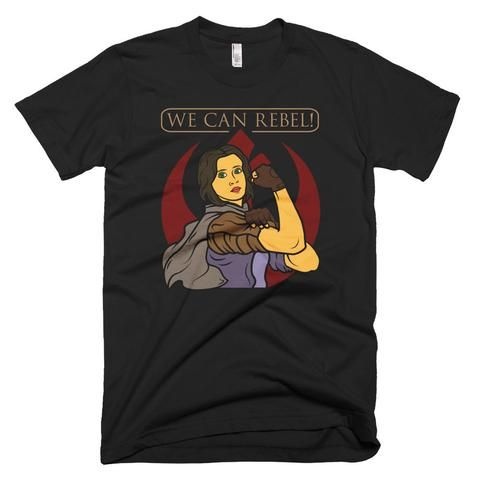 We Can Rebel! - Star Wars Rogue One Shirt - Black