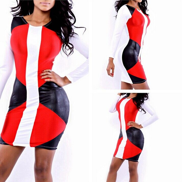 FASHION SEXY GIRL EVENING CLUB PARTY DRESS HOLLOW OUT LONG SLEEVE HIGH WAIST SKINNY BODYCON BANDAGE EVENING WOMEN LADIES DRESSES