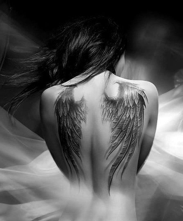 Angel wing tattoo - 35 Breathtaking Wings Tattoo Designs  <3 <3