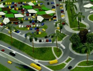Макет автобусной станции Абиджан | Макетная мастерская «Бэст макет». Изготовление макетов для выставок, в офисы продаж.