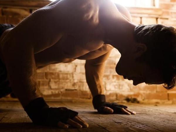 """""""Blurpees"""" from Men's Fitness  - bodyweight exercises that work the lats without a chin-up/pull-up."""