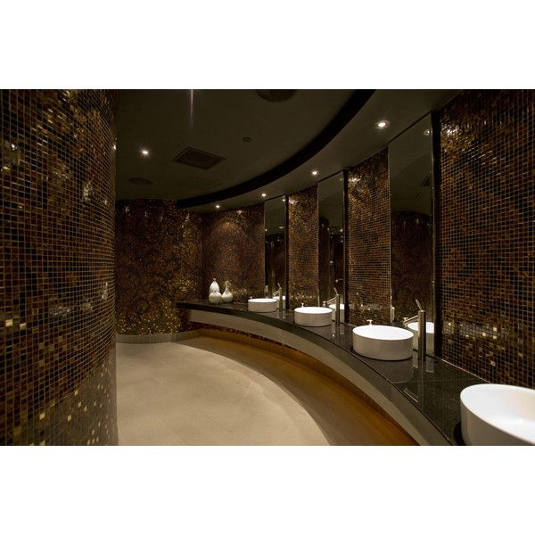 Club restroom ❤ liked on Polyvore