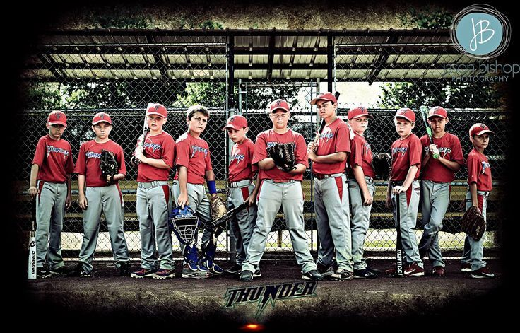 "Baseball Team Photo Ideas Pinterest | Team Picture"" ( NON-TRADITIONAL POSE )ARK-MO Thunder Baseball Sports ..."