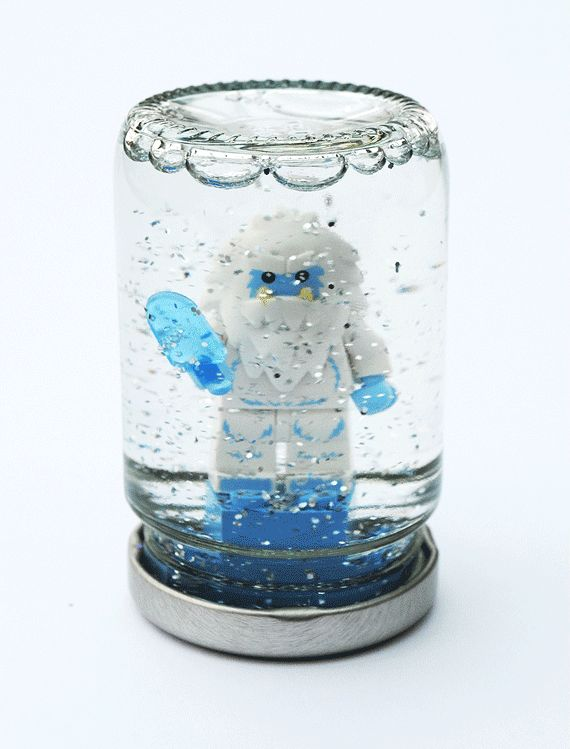 Construct a snow globe using a LEGO figurine and some glitter. - 27 Ridiculously Cool Projects For Kids That Adults Will Want To Try