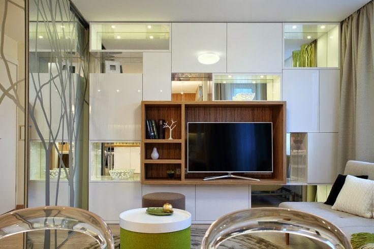 Дизайн однокомнатной квартиры +7 (495) 960 90 29: Тени деревьев в маленькой однушечке, 34 кв.м.