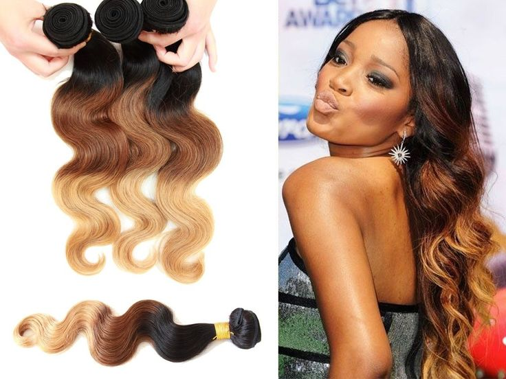 """Brazilian Virgin Human Hair 12""""-28""""Ombre Hair Extension BODY WAVE 50g US Local #WIGISS #HairExtension"""