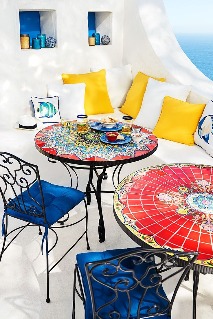 Elegant Attention To Detail Is What Makes Each Pier 1 Mosaic Outdoor Table A Unique  Work Of