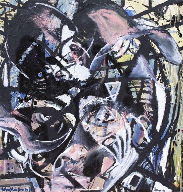 MUJER ABRASIVA   79 x 76 cm Pintura sobre lienzo 2015