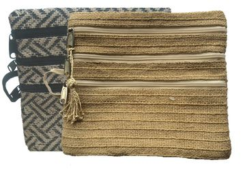 The Zarat Zippy Purse was designed by Stephanie Johnstone from She Made This in collaboration with our design & artisan team in Bangladesh. It is available in Natural and Black/Natural - 3 zips in the front and one zip in the back.