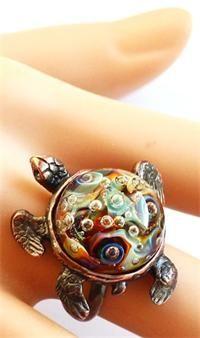 """Кольцо из серии """"Морская черепаха"""" - """"Мир танцующих звезд"""""""