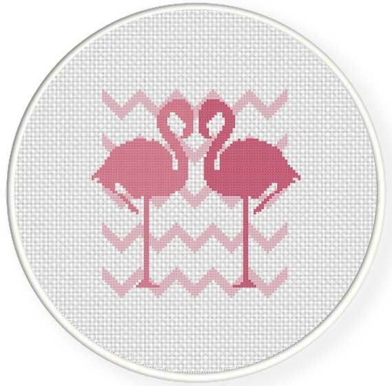 FREE for May 24th 2014 Only - Flamingo Love Cross Stitch Pattern