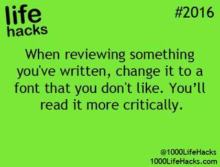 Just like the weblog? Get the e book: http://amzn.to/1HXXBfk (1000 Life Hacks)