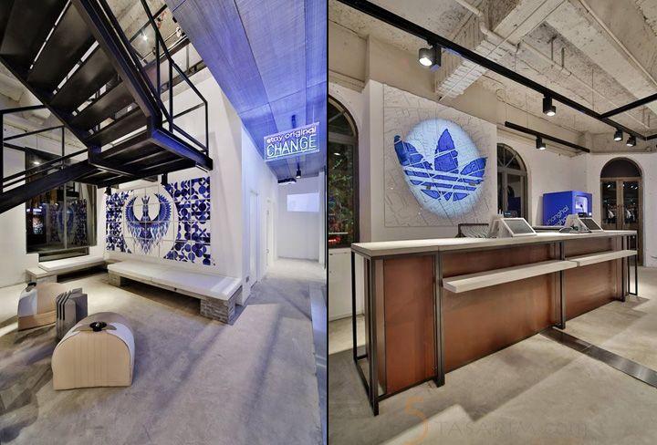 spor mağaza dekorasyonu bekleme alanları tasarımları