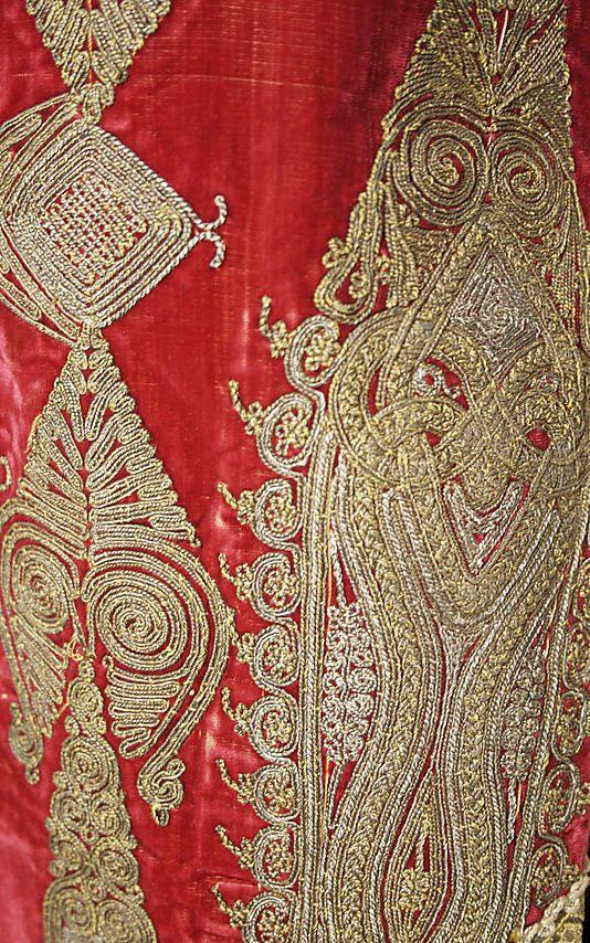 Wedding ensemble ( detail)       19th century–early 20th century      Macedonian   Greece       silk, wool