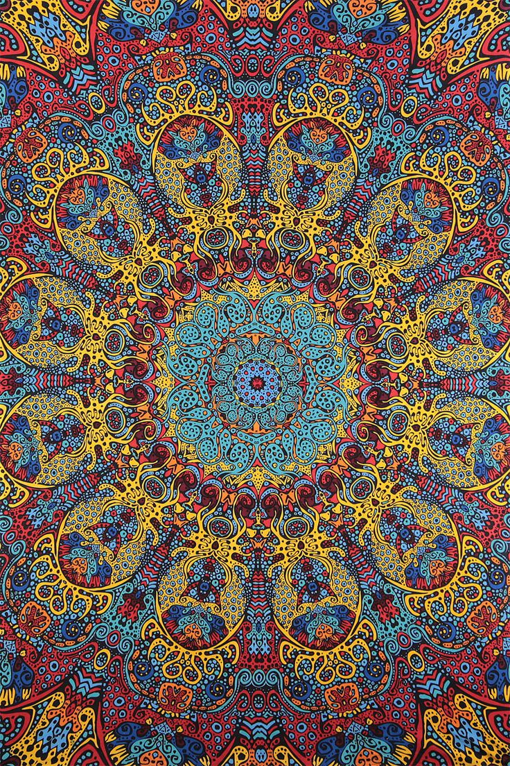 3D Psychedelic Sunburst Tapestry 60x90 Inches