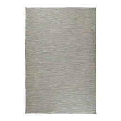 HODDE Rug, flatwoven, in/outdoor blue, beige - in/outdoor blue/beige - 200x300 cm - IKEA