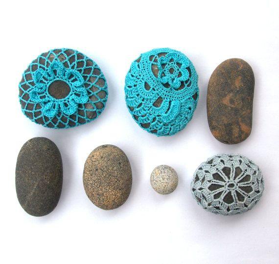 46 best crocheted beach stones images on Pinterest Beach stones